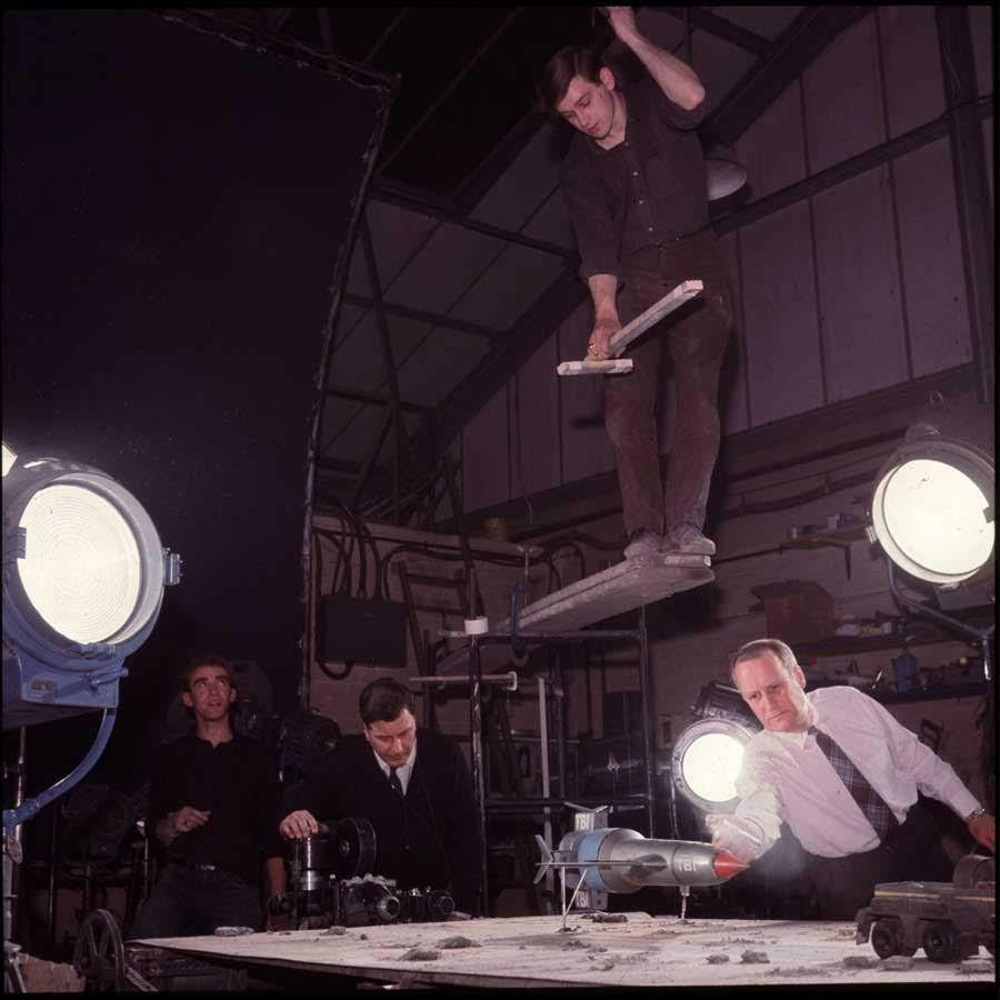 Filmación de una escena del Thunderbird 1