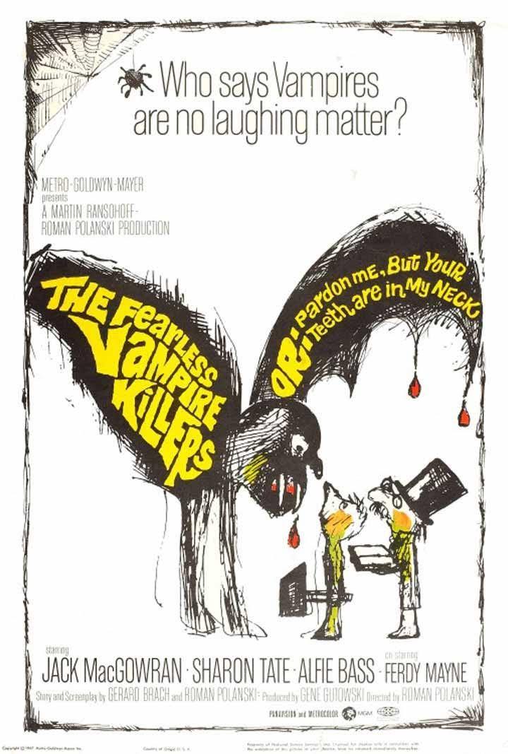 """Afiche de """"La Danza de los Vampiros"""" (Roman Polanski)"""
