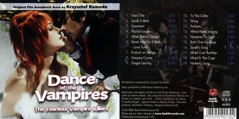 """Carátula y contraportada de la banda sonora de """"La Danza de los Vampiros""""."""