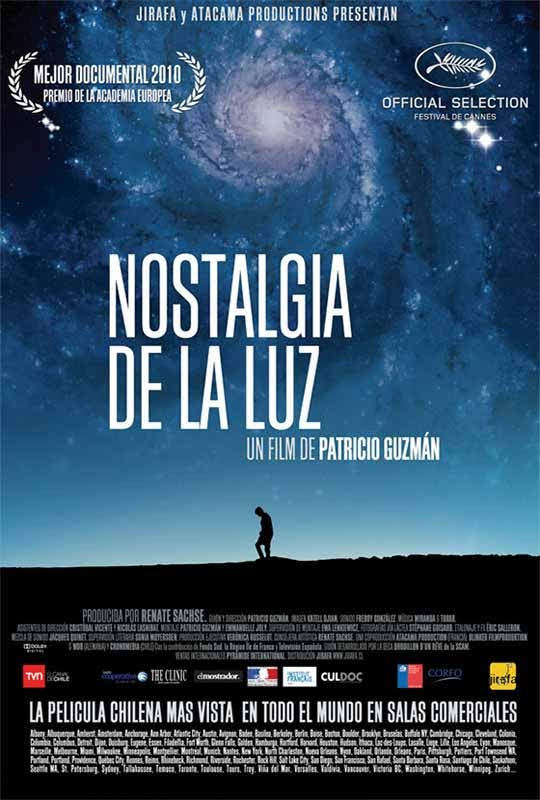 "afiche del documental ""Nostalgia de la Luz"" | Patricio Guzmán"