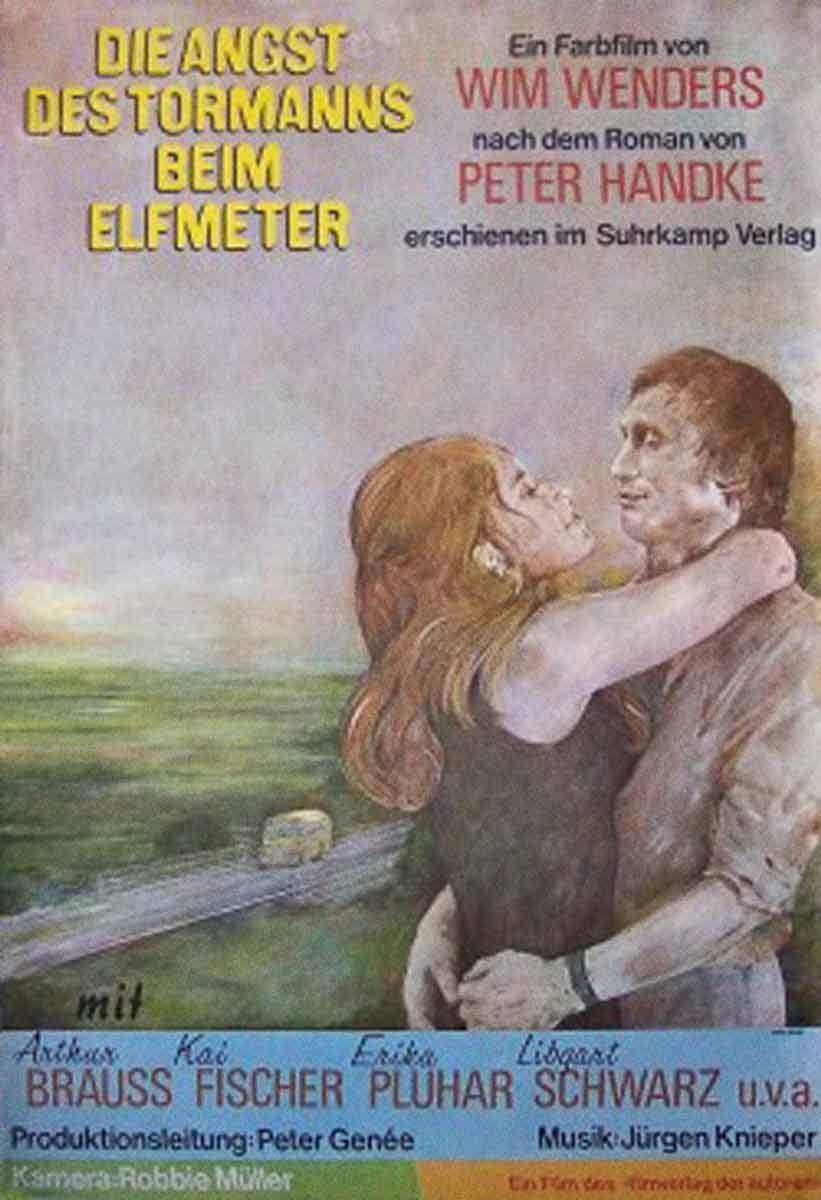 """Afiche en alemán de """"El miedo del arquero ante el penal"""", Wim Wenders (1971)"""