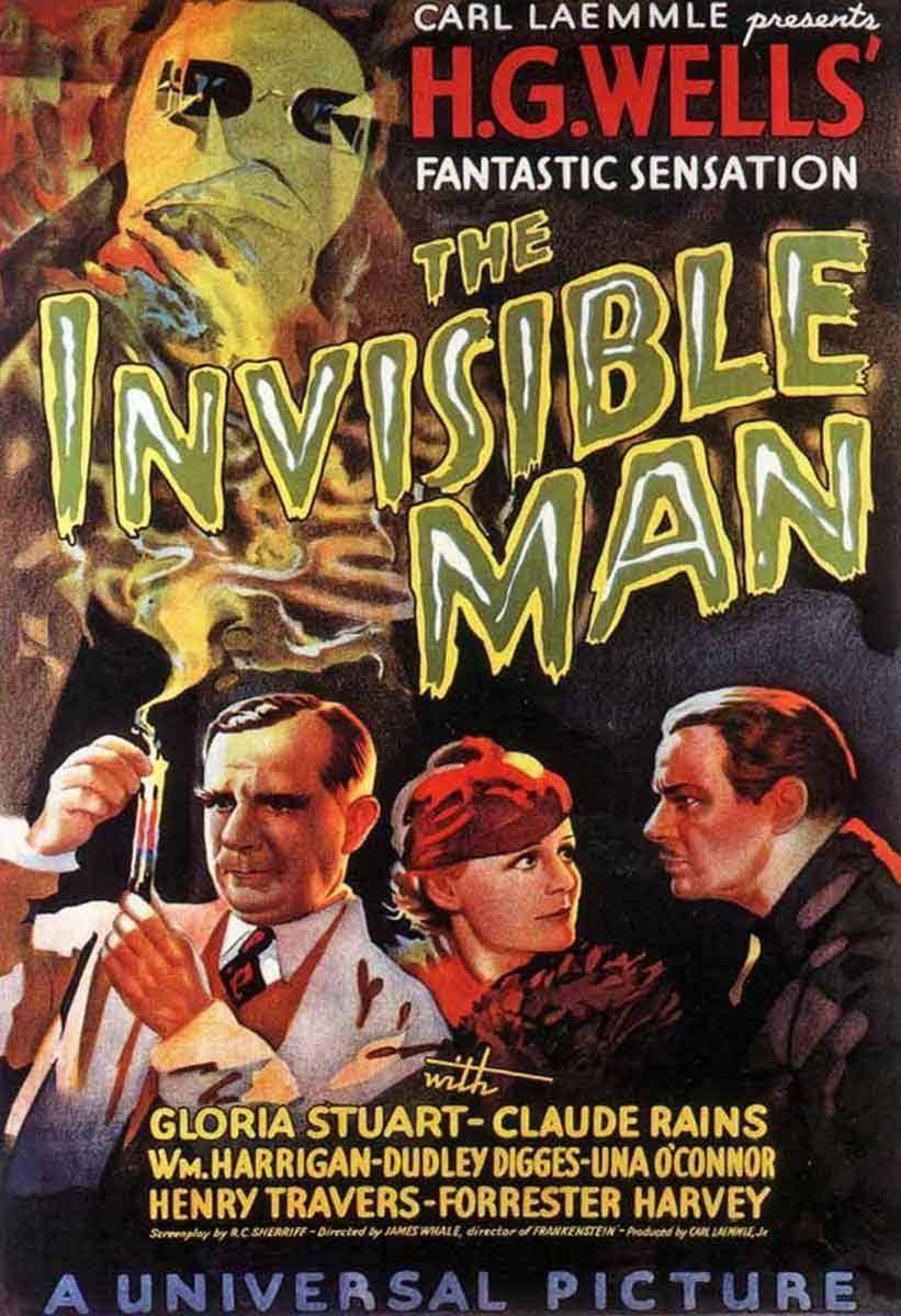 """Afiche """"El hombre invisible"""" 1933"""