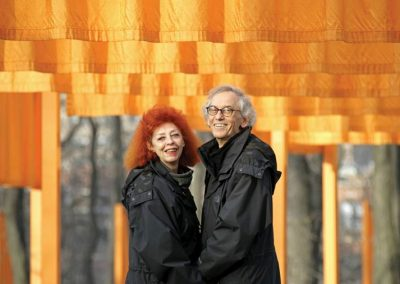 Nueva York, 2005. Christo y Jeanne-Claude en The Gates. Foto: Wolfgang Volz ©2005 Christo