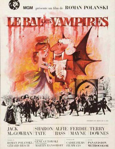 """Afiche en francés de """"La Danza de los Vampiros"""" (Roman Polanski)"""